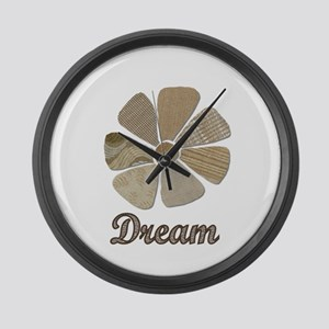 Dream Inspiration Flower Art Large Wall Clock