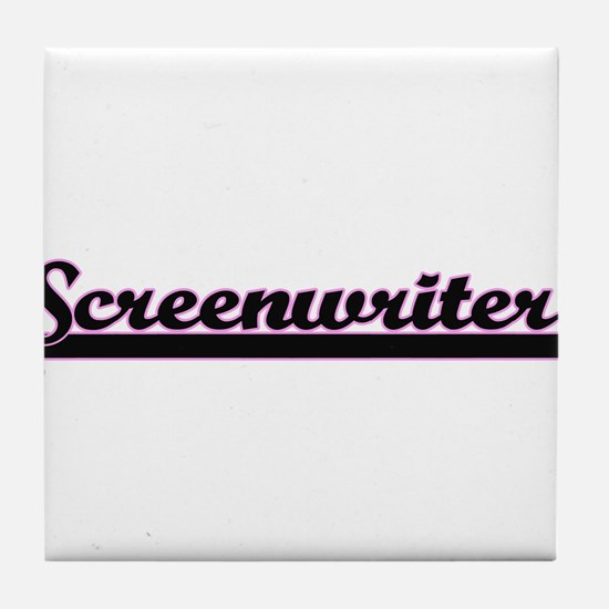 Screenwriter Classic Job Design Tile Coaster