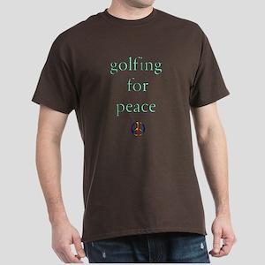 Golfing for Peace Dark T-Shirt