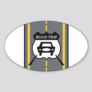 Road Trip Oval Sticker
