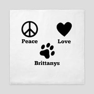 Peace Love Brittanys Queen Duvet