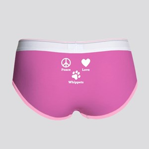 Peace Love Whippets Women's Boy Brief