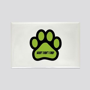 Adopt Don't Shop (lime green) Magnets