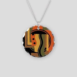 Vintage Art Deco Necklace Circle Charm