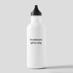 Retired Nurse Golfer Water Bottle