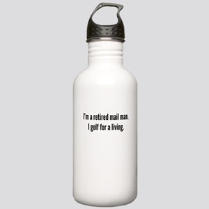 Retired Mail Man Golfer Water Bottle