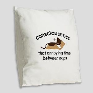 Consciousness Burlap Throw Pillow