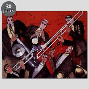 Vintage Music, Art Deco Jazz Puzzle