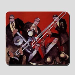 Vintage Music, Art Deco Jazz Mousepad