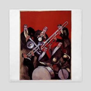 Vintage Music, Art Deco Jazz Queen Duvet
