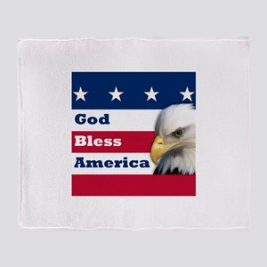 GodBlessAmerica_4in Throw Blanket