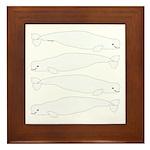 Beluga Whale Framed Tile