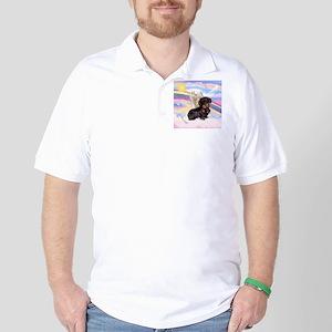 Angel Wire Haired Dachshund Golf Shirt