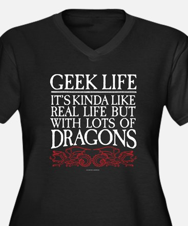 Geek Life With Dragons Plus Size T-Shirt