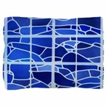 Ice Blue Stained Glass Pillow Sham