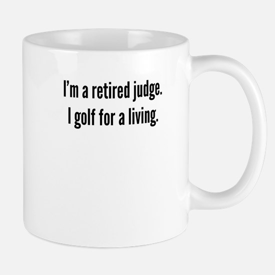 Retired Judge Golfer Mugs