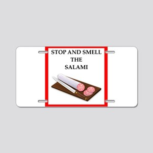 salami Aluminum License Plate
