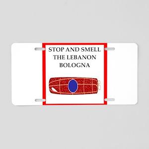 lebanon bologna Aluminum License Plate