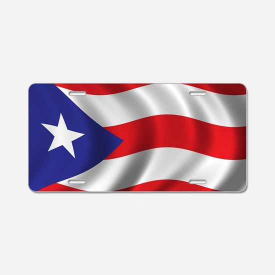 Cute Puerto rican flag Aluminum License Plate
