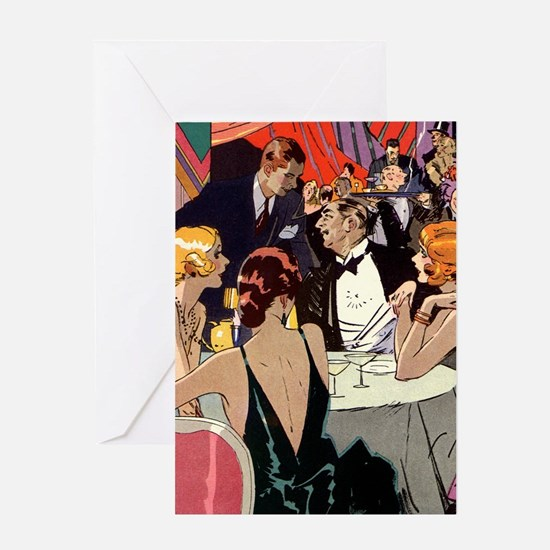 Vintage Art Deco Cocktail Party Greeting Cards