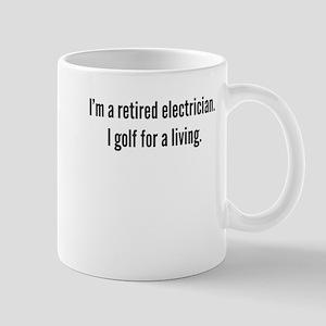 Retired Electrician Golfer Mugs