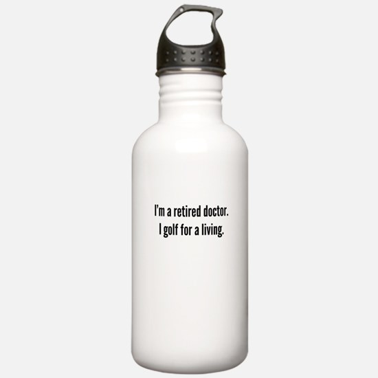 Retired Doctor Golfer Water Bottle