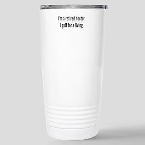 Retired Doctor Golfer Travel Mug