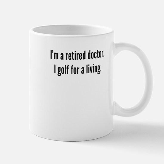 Retired Doctor Golfer Mugs