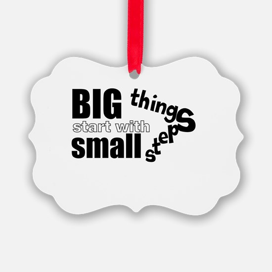 Motivating Text Quote Ornament