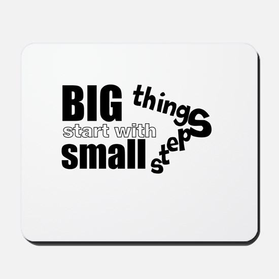 Motivating Text Quote Mousepad