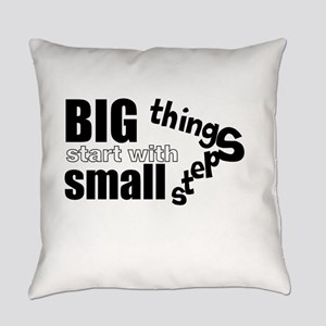 Motivating Text Quote Everyday Pillow