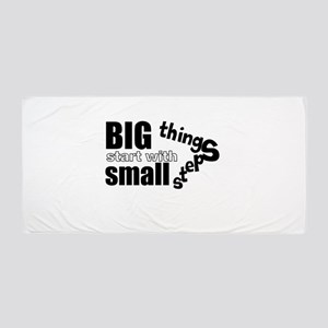 Motivating Text Quote Beach Towel