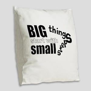 Motivating Text Quote Burlap Throw Pillow