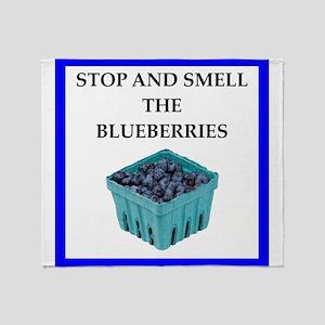 blueberry Throw Blanket