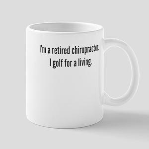 Retired Chiropractor Golfer Mugs