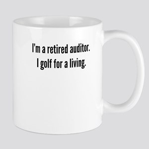Retired Auditor Golfer Mugs