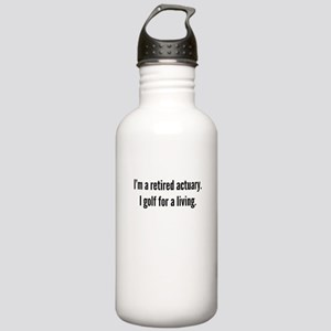 Retired Actuary Golfer Water Bottle
