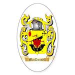 MacDonnell (Glengarry) Sticker (Oval 10 pk)