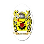 MacDonnell (Glengarry) 20x12 Oval Wall Decal