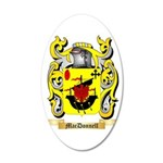 MacDonnell (Glengarry) 35x21 Oval Wall Decal