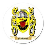 MacDonell Round Car Magnet