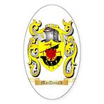 MacDonald Sticker (Oval 50 pk)