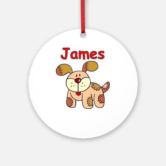 James Puppy Ornament (Round)