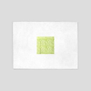 Lime green animal print (basic) 5'x7'Area Rug