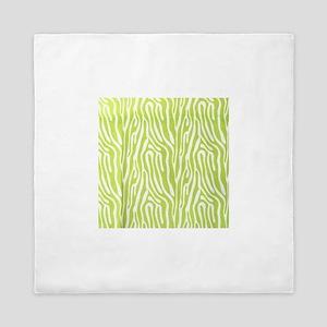 Lime green animal print (basic) Queen Duvet