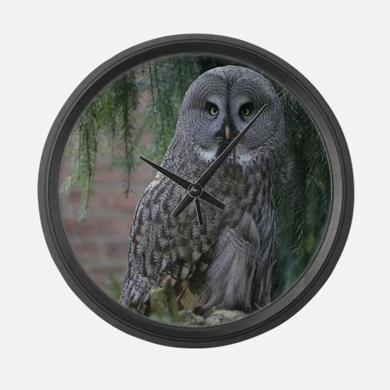 Owl_2015_0203 Large Wall Clock