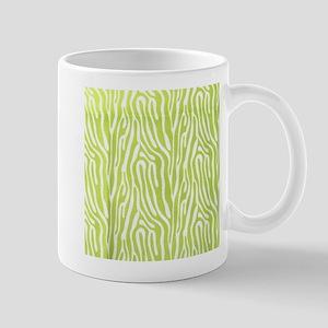 Lime green animal print (basic) Mugs