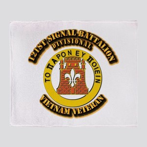121st Signal Battalion (Divisional) Throw Blanket