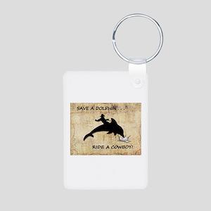 dolphin cowboy Keychains