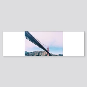 Golden Gate Bridge In The Mist Bumper Sticker
